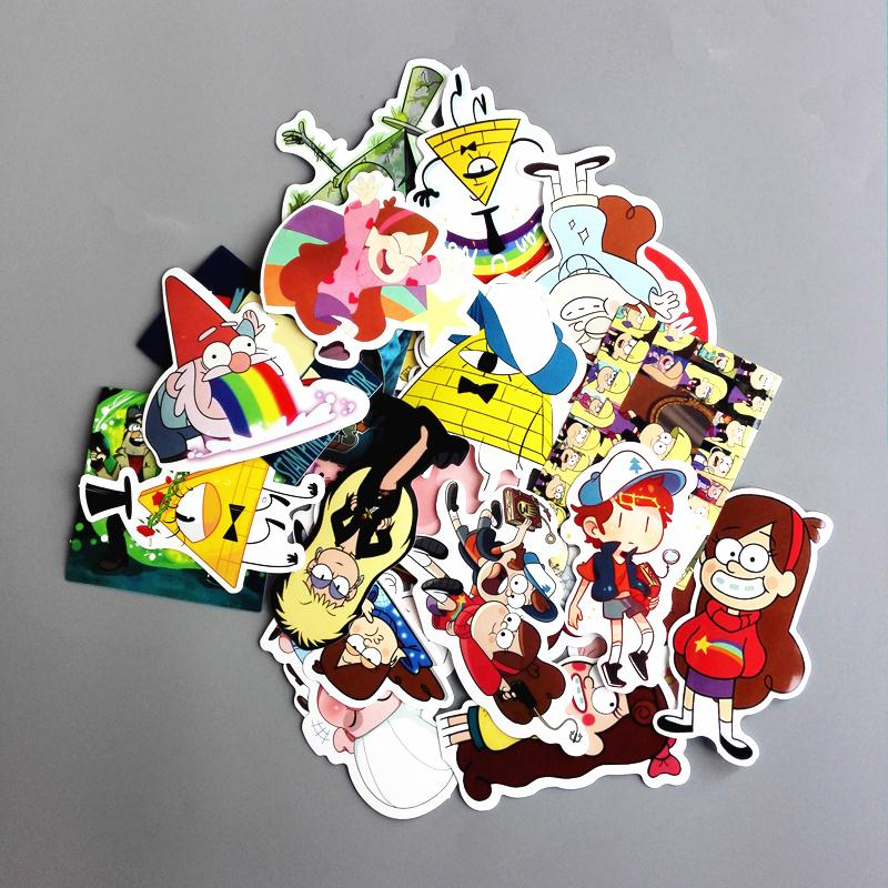 25Pcs/lot Funny Anime Gravity Falls Sticker For Car Laptop Luggage Skateboard Motorcycle Decal Kids Toy Sticker Pegatinas