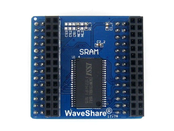 IS62WV12816BLL SRAM Board Memory Storage Module For SRAM With 16-bit Parallel Interface Extra 2Mbit (128K X 16bits) Memory