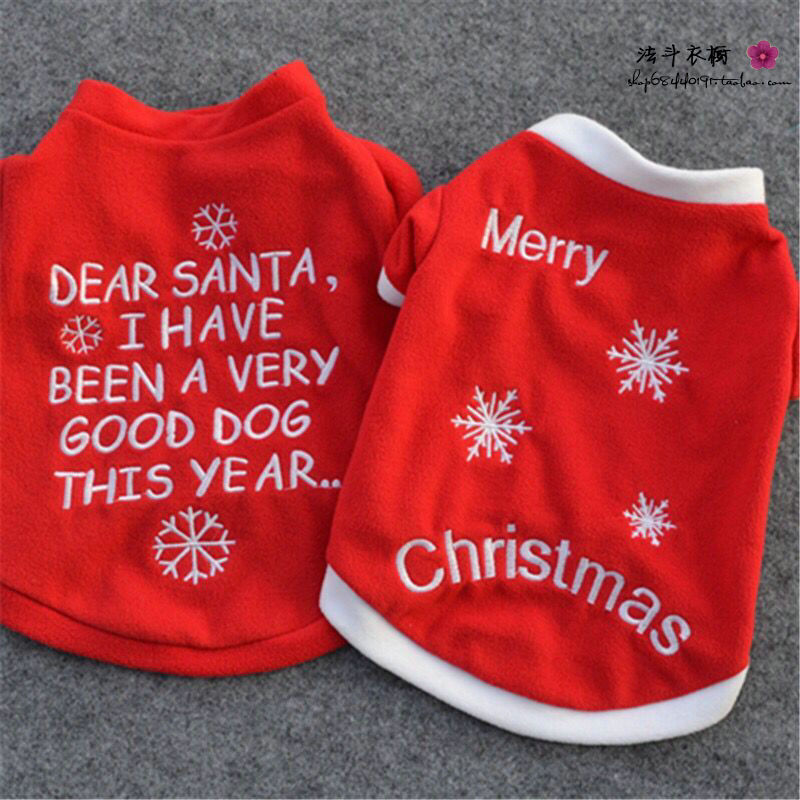 e3e78a556641 1 pcs Pet Christmas Santa Claus Clothes Dog Coat Jacket Fleece Autumn  Winter Puppy Cat Hoodies