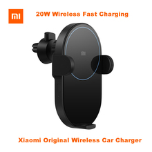 In Stock Original Xiaomi Wireless Car Charger 20W Max Electric Auto Pinch 2.5D Ring Glass Fast Charging for Mi Smartphone