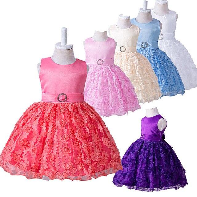 7804d85803086d Peuter kleding herfst winter kinderen dress baby prinses 1 jaar  verjaardagsfeestje dress bruiloft bloem meisje tutu
