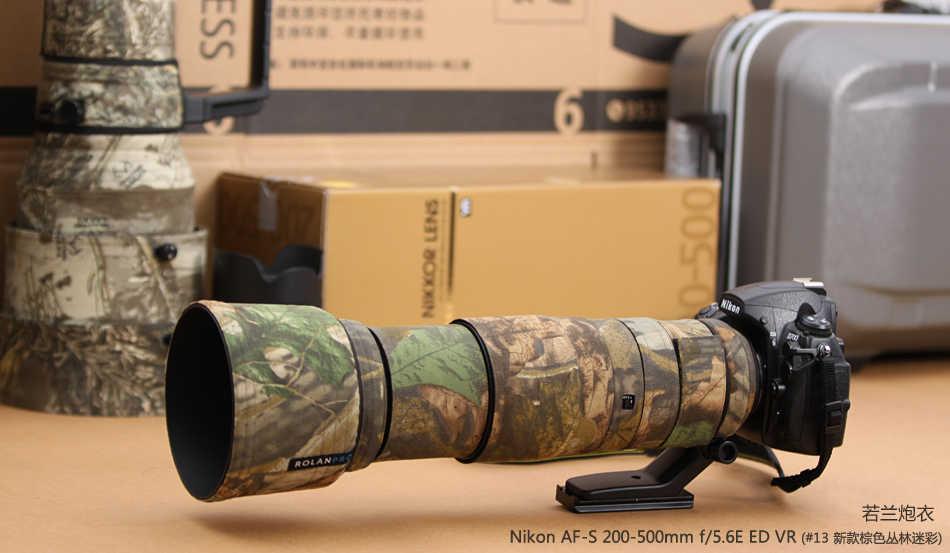 ROLANPRO Камера объектив пальто камуфляж AF-S 200-500 мм f/5.6E ED VR защитный чехол guns одежда для Nikon