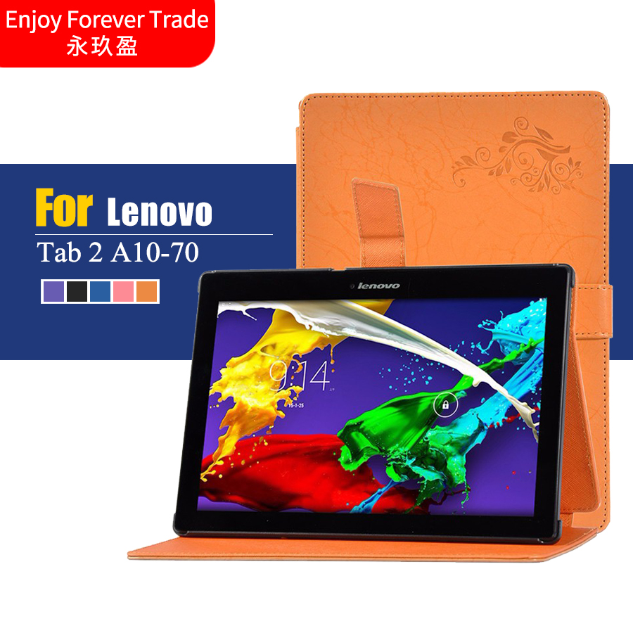Print Flower ColorFul Tab2 A10 70 stand leather case cover for lenovo tab 2 A10 a10-70 A10-70F A10-70L tablet 10.1'' tablet case