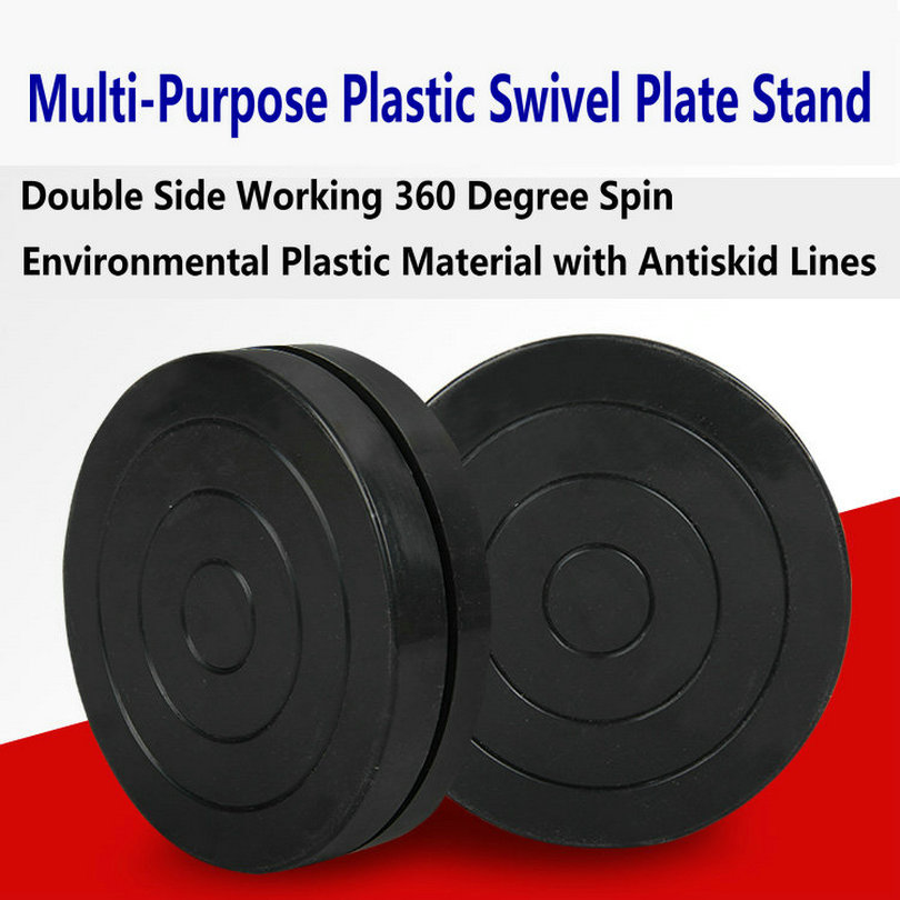 HQ MINI 11CM Dia 3CM Height Double Layer Display Stand Swivel Plate Plastic Lazy Susan Turntable Base For DIY Sculpture Pottery