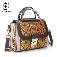 SEVEN SKIN Brand 2017 Vintage Designer Women Handbag Genuine Leather Bag Small Luxury Female Messenger Bags