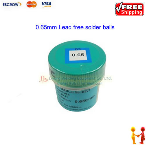 Free shipping !! PMTC Lead-free Solder Ball For BGA Soldering Reballing, 0.65mm Lead free solder balls lead free bga solder balls 250k 0 35mm for bga repair bga reballing kit bga solder ball