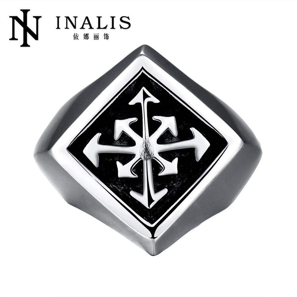d2aeb7b1890a Calidad Superior de acero Titanium Anillos dedo punk estilo 316l acero  inoxidable para hombres joyería del cumpleaños del partido del anillo r225
