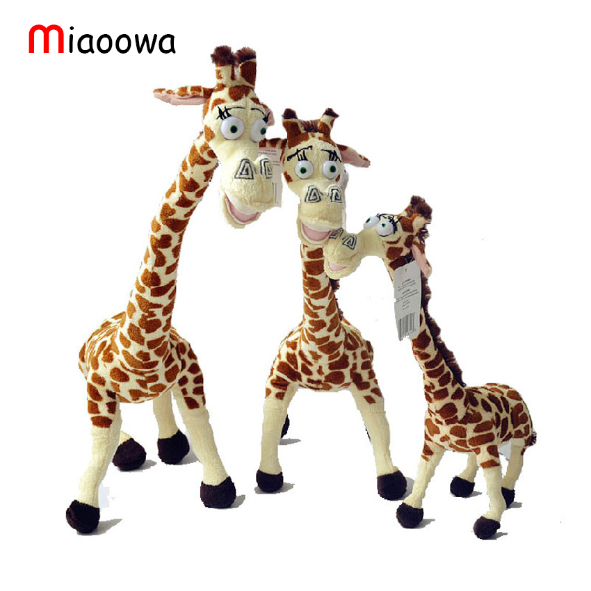 Miaoowa 1pc 35CM Long Neck Giraffe Stuffed Plush Toy Madagascar 3 Cartoon Animal Stuffed Toys Kids Baby Doll Cute Birthday Gift cartoon fox plush toys donkey cute animal plush education toys for baby kids birthday gift