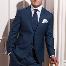 Tailored  Blue Slim Fit Wool Suit