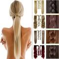 """23 """" 58 CM longo grampo na extensão do cabelo Wrap Around Clip em rabo de cavalo cabelo Real Natural pedaço cabelo liso estilo rápido frete grátis"""