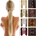 "23""58CM Long Clip In Hair Extension Wrap Around Clip on Ponytail Hair Real Natural Hair Piece Straight Style FAST FREE SHIPPING"