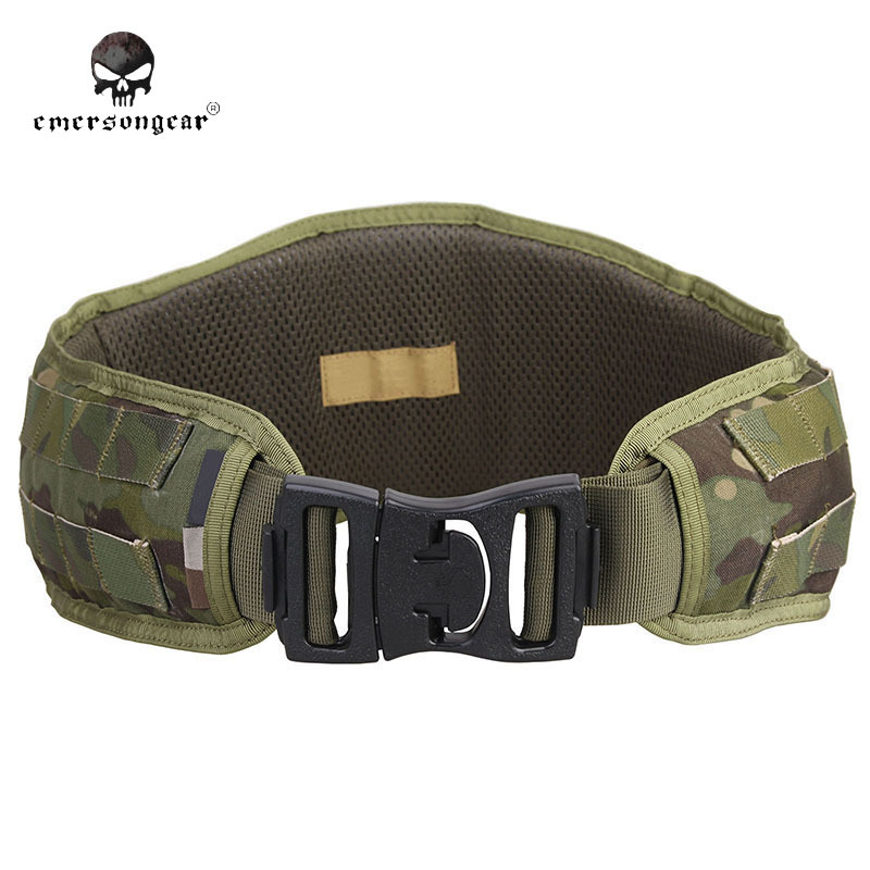 ФОТО EMERSON Tactical Padded Molle Waist Belt Hunting Battle Belt Airsoft 1000D Nylon Molle Combat Army Cummerbunds For Mens EM9086