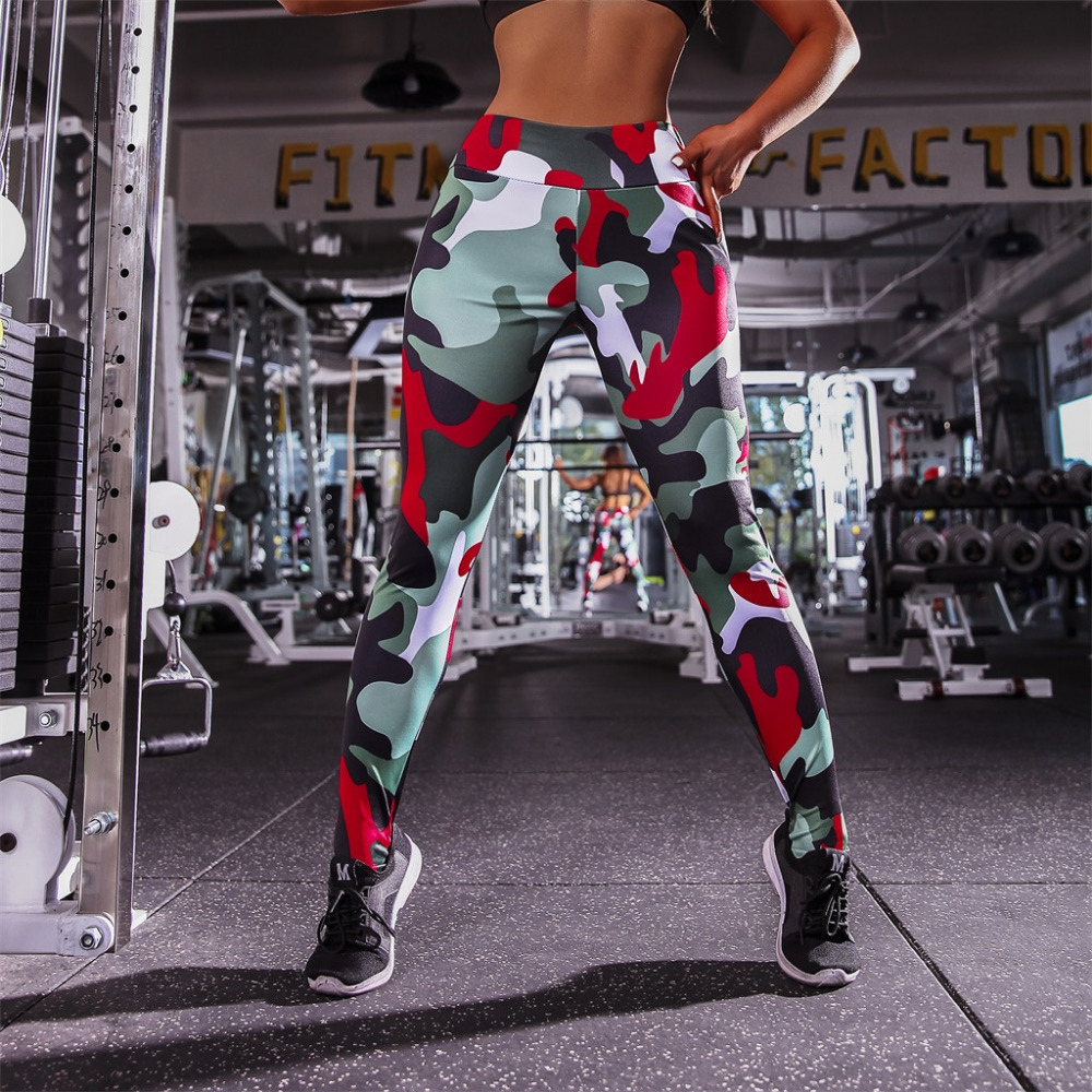 2019 Sexy women`s sports fitness yoga pants summer outdoor sports running pants tight high waist sexy beautiful hip pants 40M17 (8)