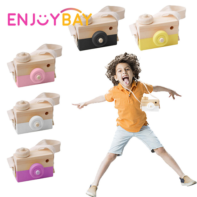 Home Decor Nordic Style Wooden Camera Figurines Fashion Home Photography Prop Decor Educational Decoration Toy for Children 2