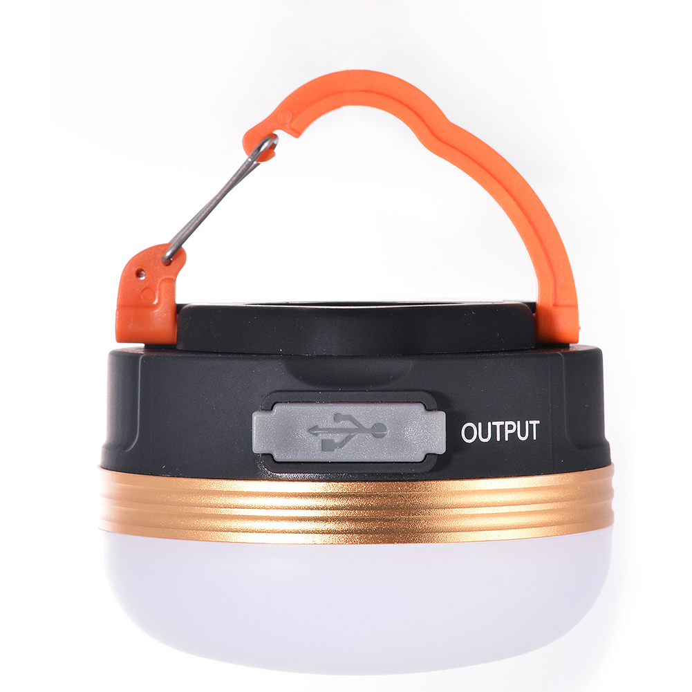 LumiParty LED Tent Light Rechargeable USB Ultra Portable Camping Lantern Campsite Hanging Lamp Emergency Bright 600 Lumens