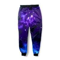 גברים מכנסיים מזדמנים נשים סקיני כושר Pantalones Harajuku גלקסי כוכבים הדפסת 3D זיעה הרמון מכנסיים היפ הופ מכנסי טרנינג רצים