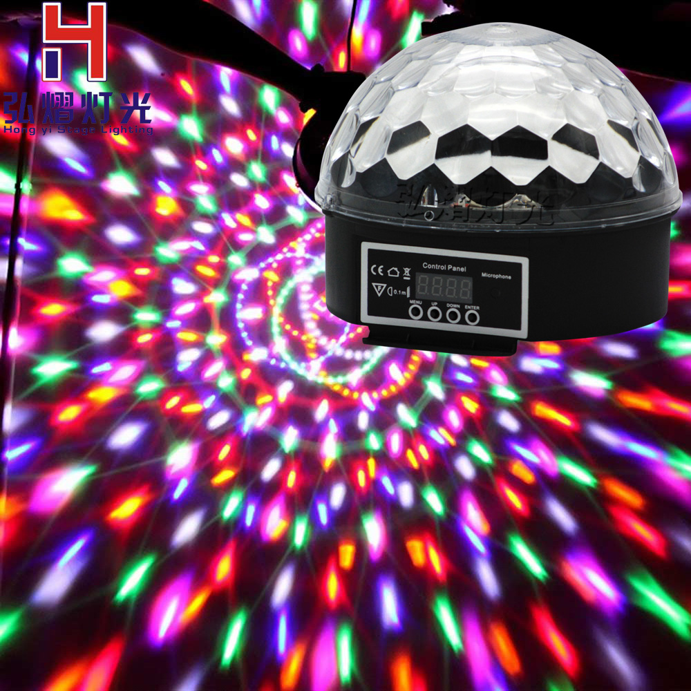 7Colors Disco Ball Lumiere 27W Sound Activated Strobe Led RGB Stage Lighting effect Lamp Laser Christmas Dj KTV Light Party Show auto sound led crystal magic ball par 36 rgb dmx stage light effect disco dj bar effect up lighting show strobe for party ktv