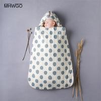 MHWGO Sleeping Bag Baby Stroller Cotton Envelope For Discharge Winter Envelope For Newborns Baby Nest Stroller