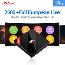 IPTV Spanisch Italien H96 Pro Plus 3G / 32G Android 7.1 Fernsehkasten S912 2500+ IUDTV IPTV Europa Schwedisch Arabisch IPTV Box H96Pro IP TV Box