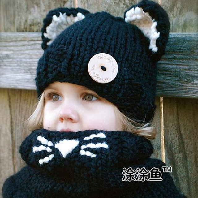 Gato gato Sudadera con capucha sombrero animal bufanda con capucha ...
