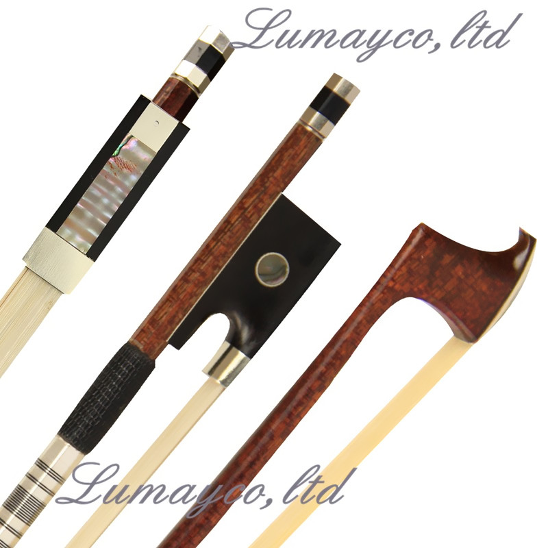 цены Free Shipping Prefessional Carbon Fiber Violin Bow 4/4 Good Balance Snakewood Frog Natural White Horsehair Parts Fittings