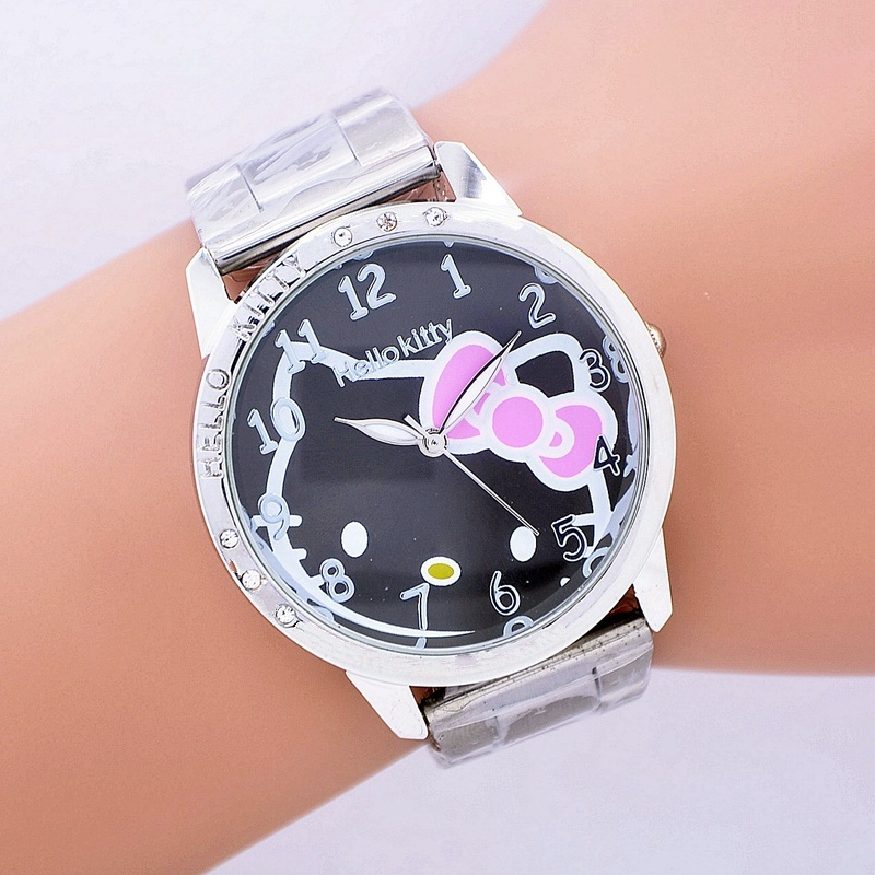 Toy Hello Kitty Watch : Hot sales fashion women stainless steel watch girls