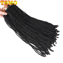 TOMO Hip Hop Synthetic Dreadlocks Hair Extensions For Wome And Men Weave Black Crochet Braids 20Inch Crochet Braiding Hair(China)