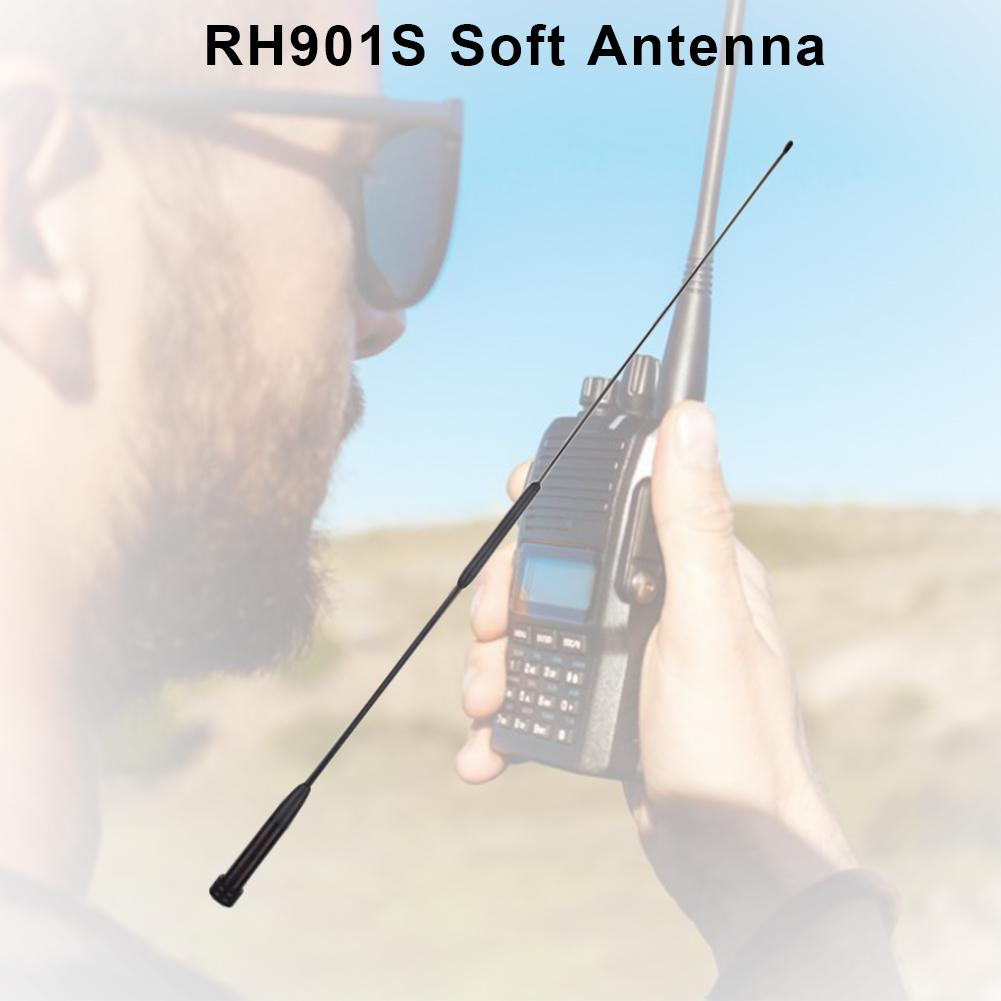 Dual Band Walkie Talkie Antenna Diamond RH-901S Full Section Gain Hand Antenna UV-82 UV U1Z8 Antenna RH901S SMA-Male For Two Way