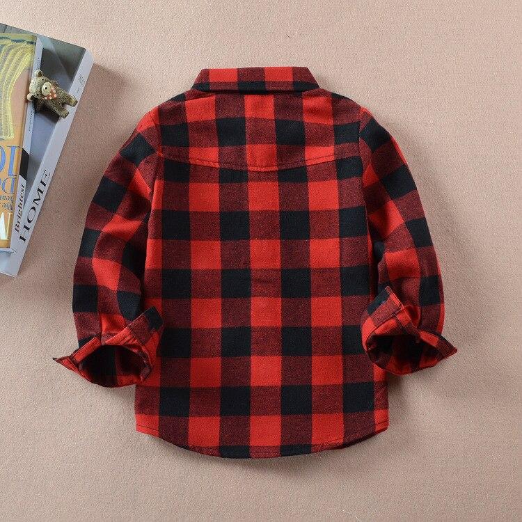 VIDMID Boys shirts for Girls British Plaid child Shirts kids school Blouse red tops clothes Kids Children plaid 12 years 6010 01 2