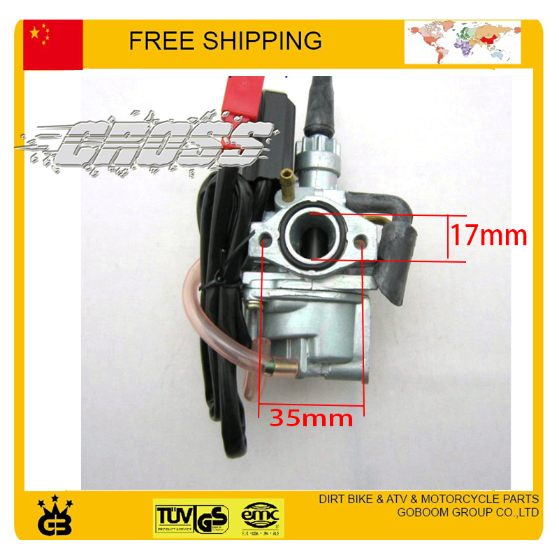 49cc 50cc Карбюраторы для мотоциклов Электронный дроссель 2 Двигатель dio50 CL50 qjiang GY6 скутер аксессуары