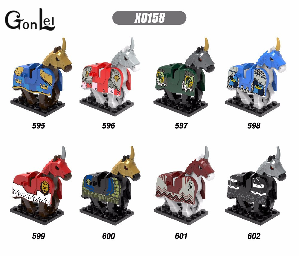 GonLeI X0158 Medieval War Knight Myth Unicorn Toys Lord of the Rings Hobbit Building Blocks Kid Toys Gift Compatible with Lepin lepin 02012 city deepwater exploration vessel 60095 building blocks policeman toys children compatible with lego gift kid sets