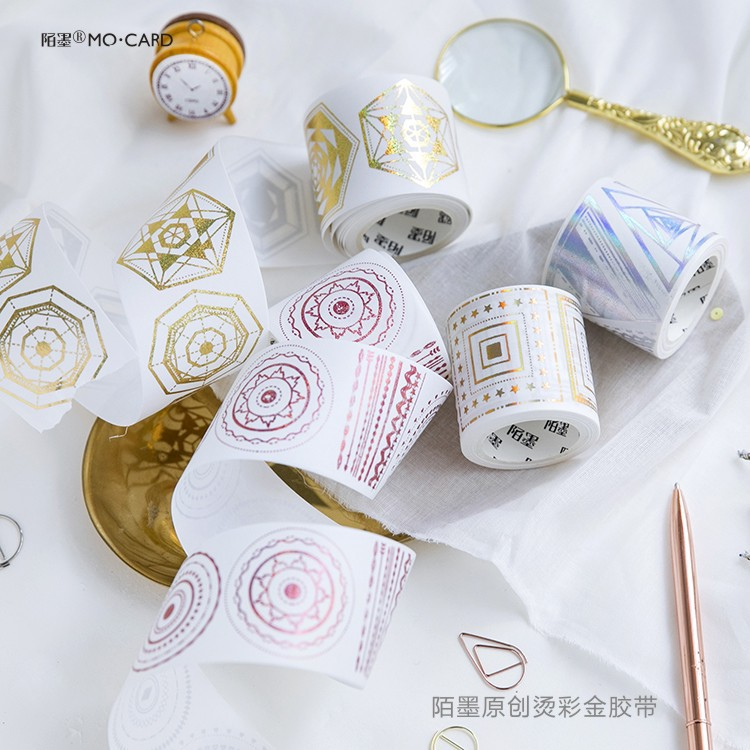 45mm*5m Creative Bronzing Geometric Color flow series Decoration Washi Tape DIY Planner Diary Scrapbooking Masking Tape Escolar 45mm wide cartoon character time boy decoration washi tape diy planner scrapbooking masking tape escolar