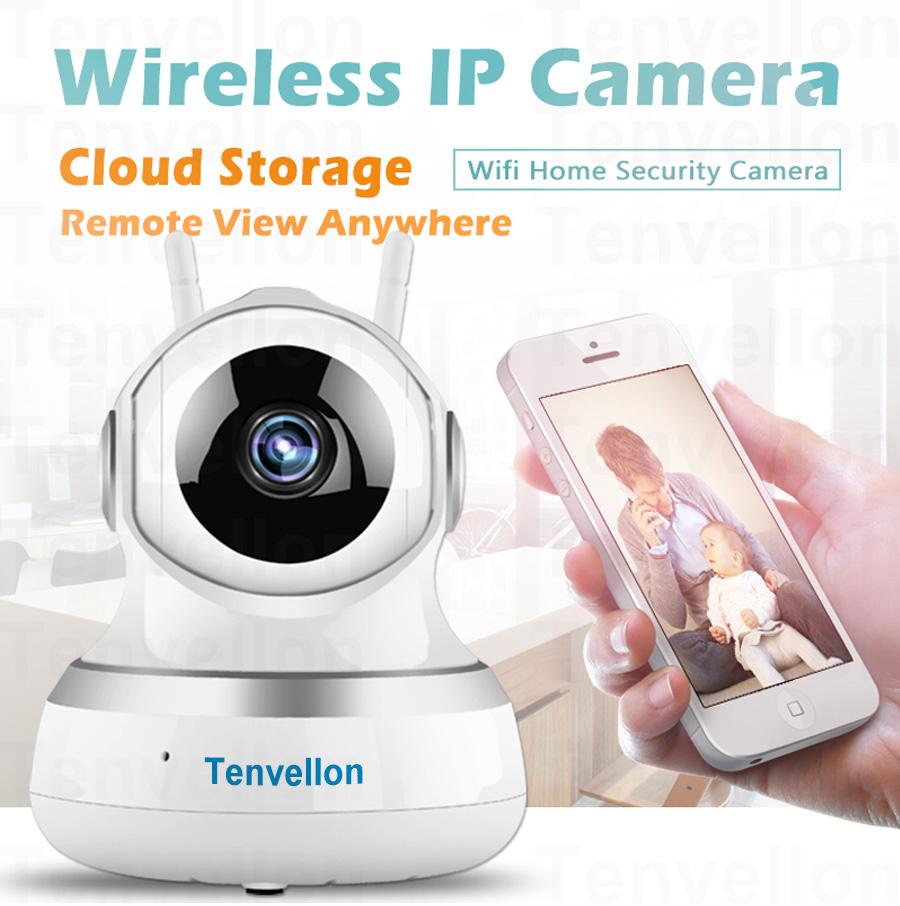 US $28 22 23% OFF|Tenvellon WiFi IP Camera 1080P CCTV Security Cameras Home  Video Surveillance Security Wireless Network camaras de seguridad-in