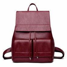 Старинные рюкзак женщины известный бренд кожаные женские Рюкзаки девочек школьная сумка твердое плечо Сумки рюкзак