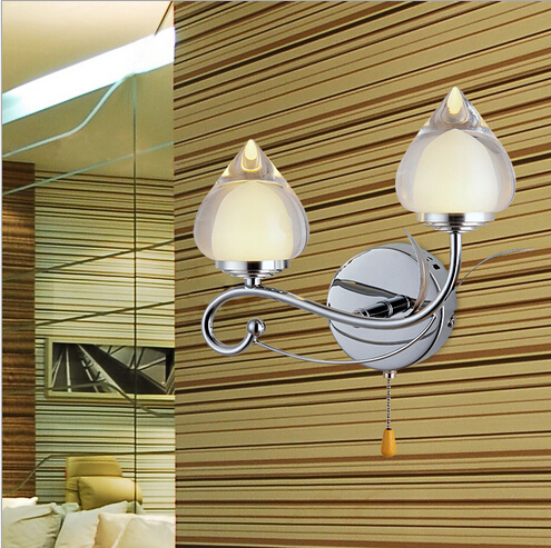 newest modern brief creative design acryl led 2*3w double slider indoor wall lamp living room bed room bedside aisle light 1544 modern led wall lamps bed room bedside lamp acrylic bathroom light living room indoor wall decoration lighting