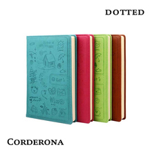 купить Dot Grid Hard Cover Creative Bullet Notebook Stationery Diary Business Cartoon Lovely Dots Inner Dotted Journal Bujo по цене 746.54 рублей