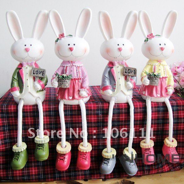 Free Shipping American European Country Style Easter Rabbit Easter Items Easer Gift And Crafts