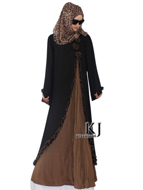 Здесь продается  Fake Two Pieces Floral Abaya Party Dress Traditional Islamic Clothing Brand Muslim Dress Women Maxi Long Jilbabs Dubai Abaya 5XL  Одежда и аксессуары
