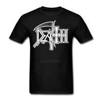 DEATH Logo 100 Cotton T Shirt ROCK BAND HEAVY METAL Short Sleeve T Shirts Guy T
