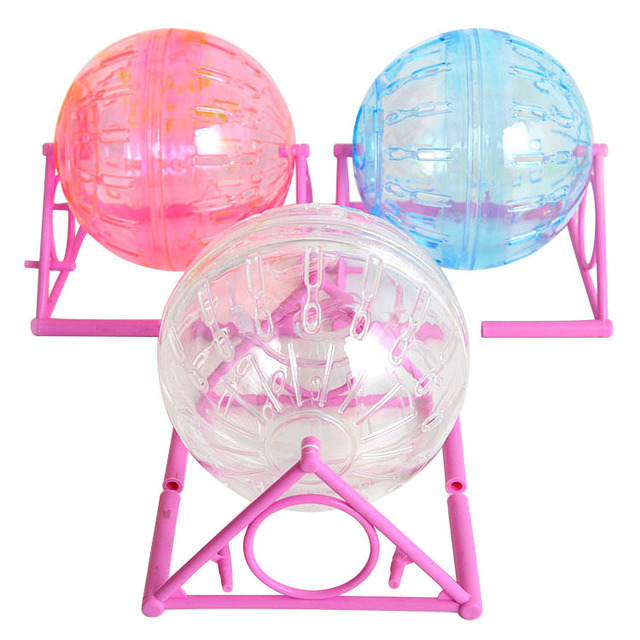 Quiet New cute Small pet animal hamster sports balls toys hamster running roller Exercise wheel rack hamster cage accessories