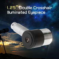 1.25 Inch Planetary Eye Lens Dual Croohair 40° Plossl Telescope Eyepiece for hunting 12.5MM Illuminated Eyepiece