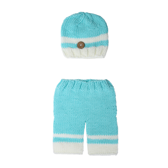 0 4 Month Newborn Baby Photography Props Hat Pant Set Fashion Lovely ...
