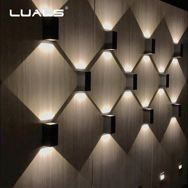 Creative Light Shadow Wall Lights Outdoor Lamp Luxury Home Lamps Hallway Aluminum Led Modern