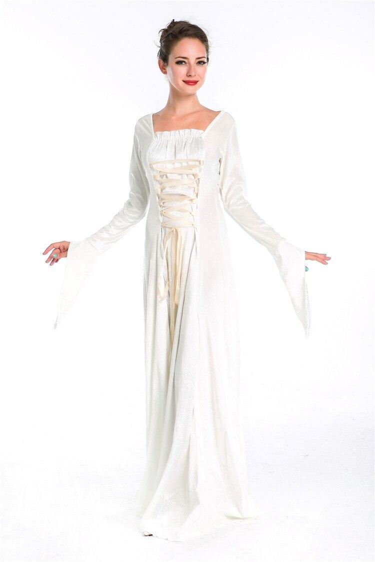 2015 heißer Frauen Cosplay Kostüme langen mittelalterlichen Kleid ...