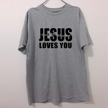 Christian T Shirt  JESUS LOVES YOU