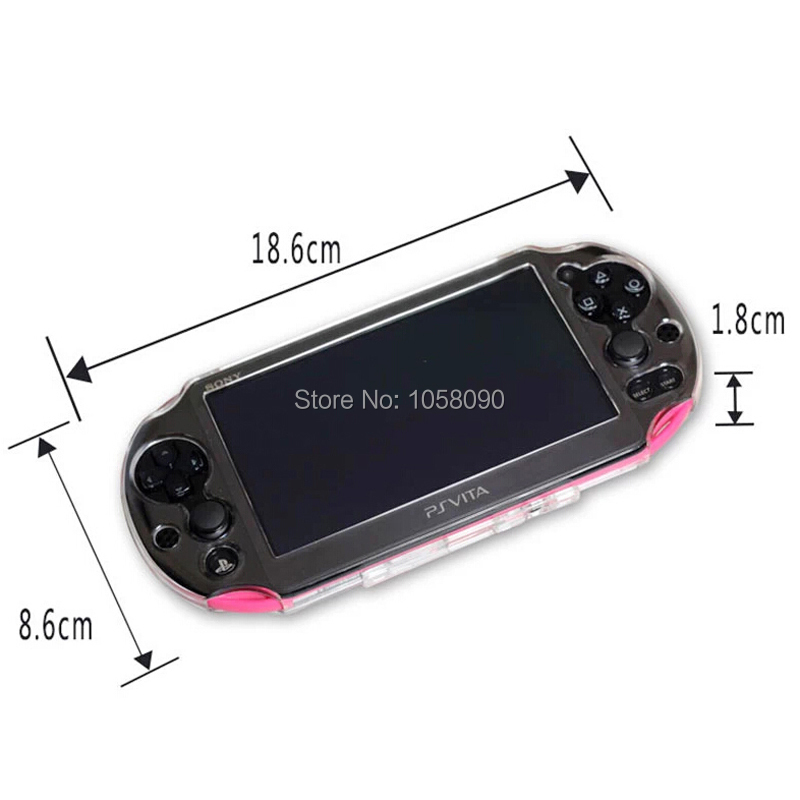 High Quality Clear Crystal Shell for PS VITA Slim Protective