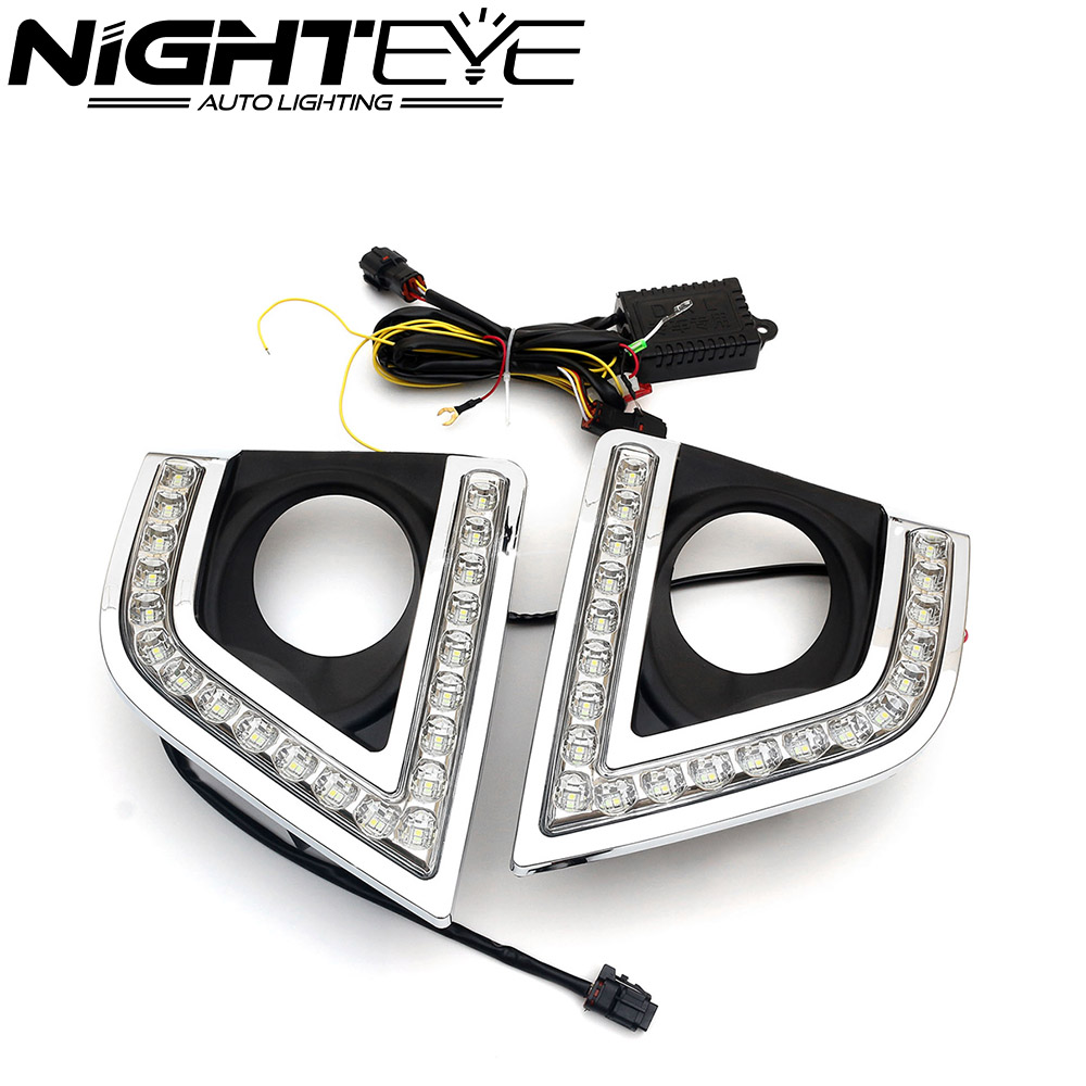 ФОТО New Arrival Auto LED Daytime Running Lights Fog Lamp DRL Turn Signal For Toyota Corolla 2014-2017