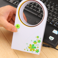 Desk Set Decoration USB Bladeless Fan Ultra Quiet Refrigeration Mini Air Conditioner As Gift For Kids