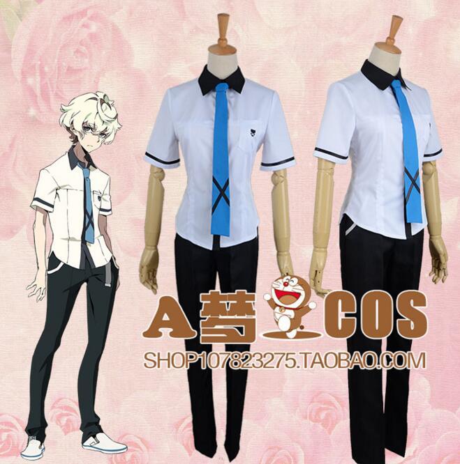 Kiznaiver Agata Katsuhira school boys mens japanese anime Uniform Cosplay Costume outfit sailor dress set