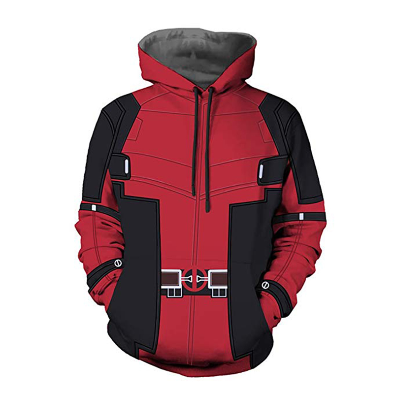 Deadpool Hoodie 3D Print Jackets Cosplay Costume Wade Wilson 3D Printed Superhero Sweatshirt Coat Tops Clothing